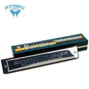 口琴 BUTTERFLY SH-B24 蝴蝶牌複音 24孔 48音 C調-補給站樂器旗艦店